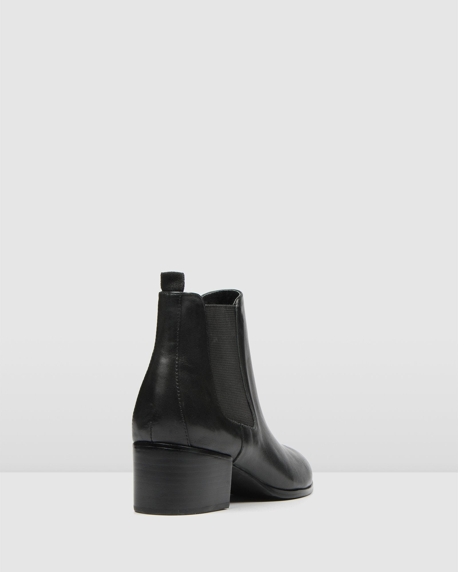 MONSTER MID ANKLE BOOTS BLACK LEATHER
