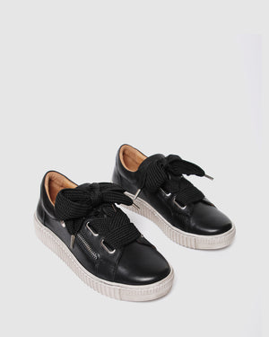 JOSEPH SNEAKERS BLACK LEATHER