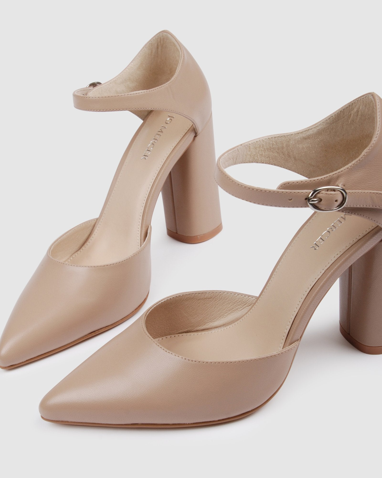 JUNIPER HIGH HEELS LIGHT BEIGE LEATHER