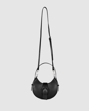 KIWI SHOULDER BAG BLACK LEATHER