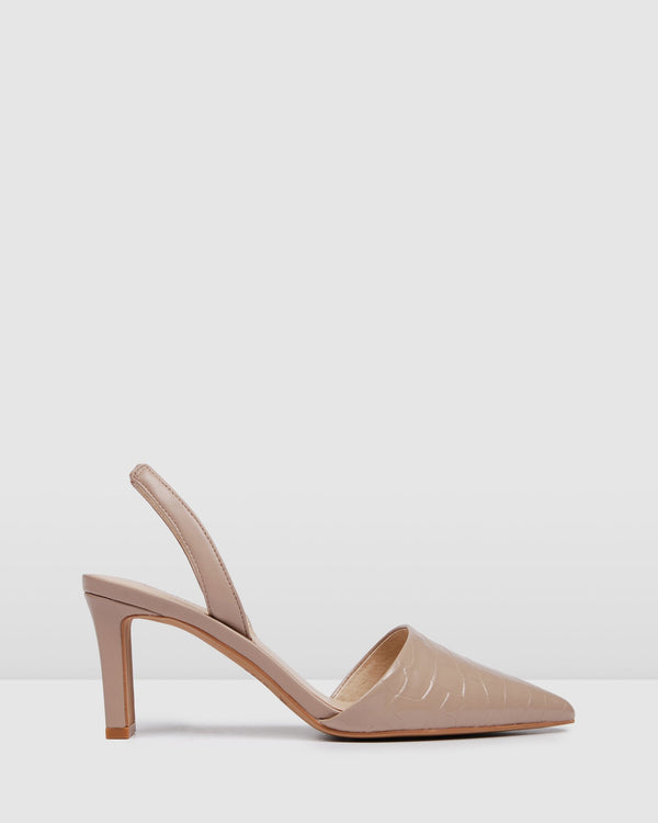 KYRA MID HEELS BEIGE LEATHER