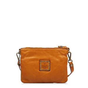 CAMPOMAGGI LUCIANO SML CROSS BODY BAG YELLOW LEATHER