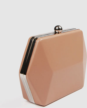 LUNA CLUTCH BEIGE LEATHER