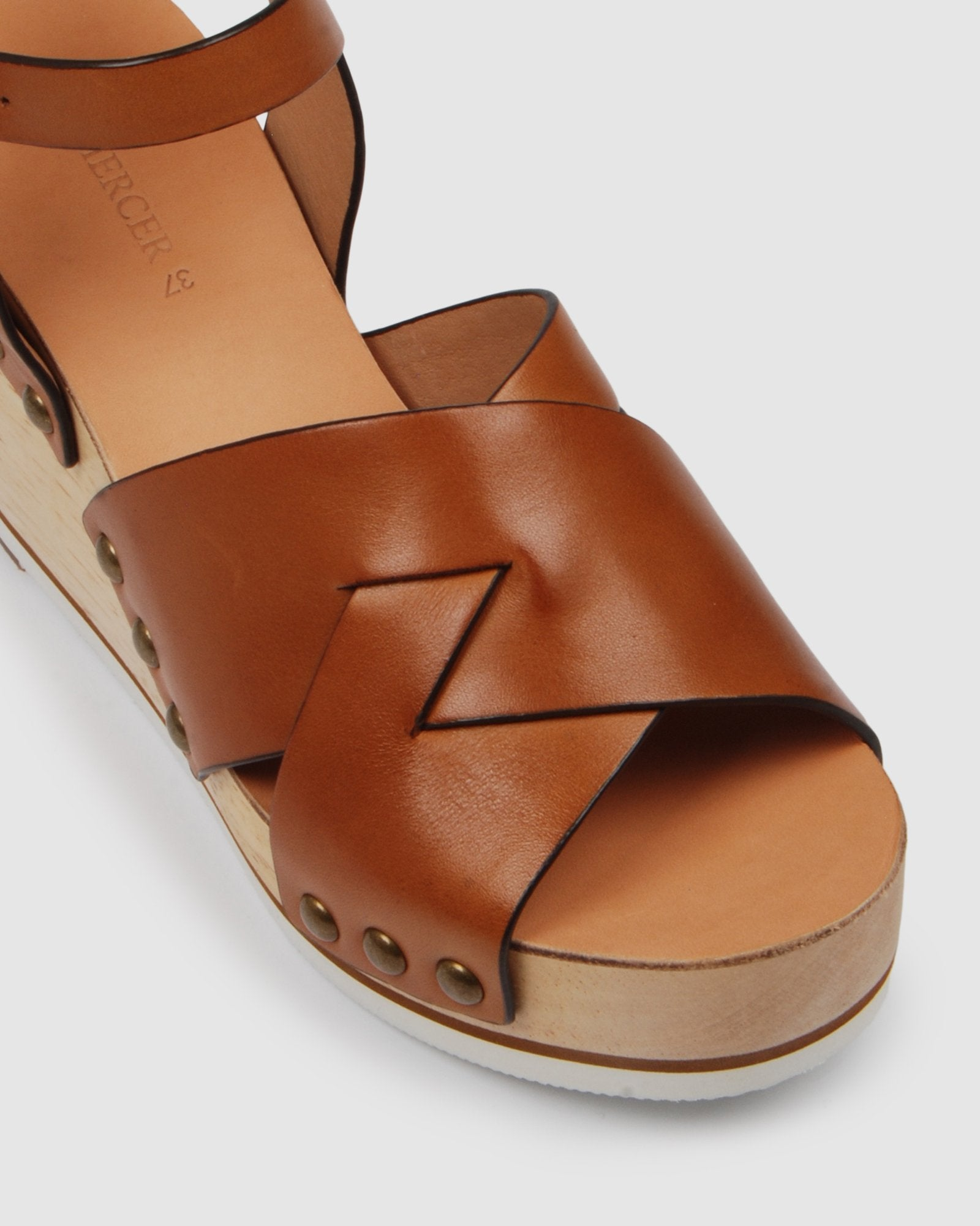 MALIBU HIGH HEEL SANDALS TAN LEATHER