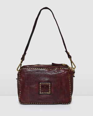 CAMPOMAGGI MONACO SHOULDER BAG WINE LEATHER