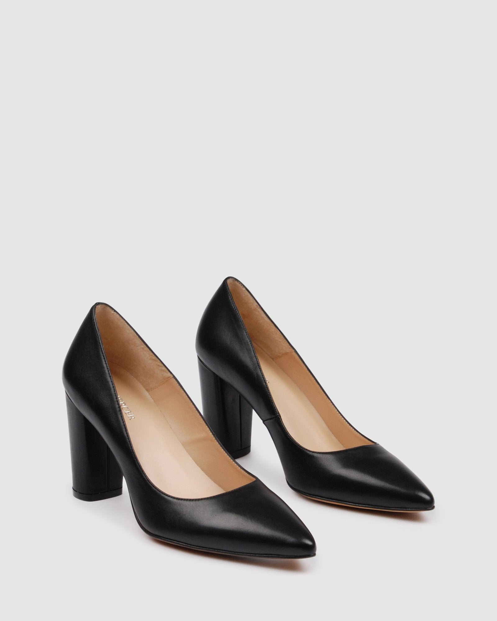 NOBLE HIGH HEELS BLACK LEATHER