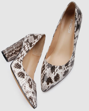 NOBLE HIGH HEELS NATURAL SNAKE