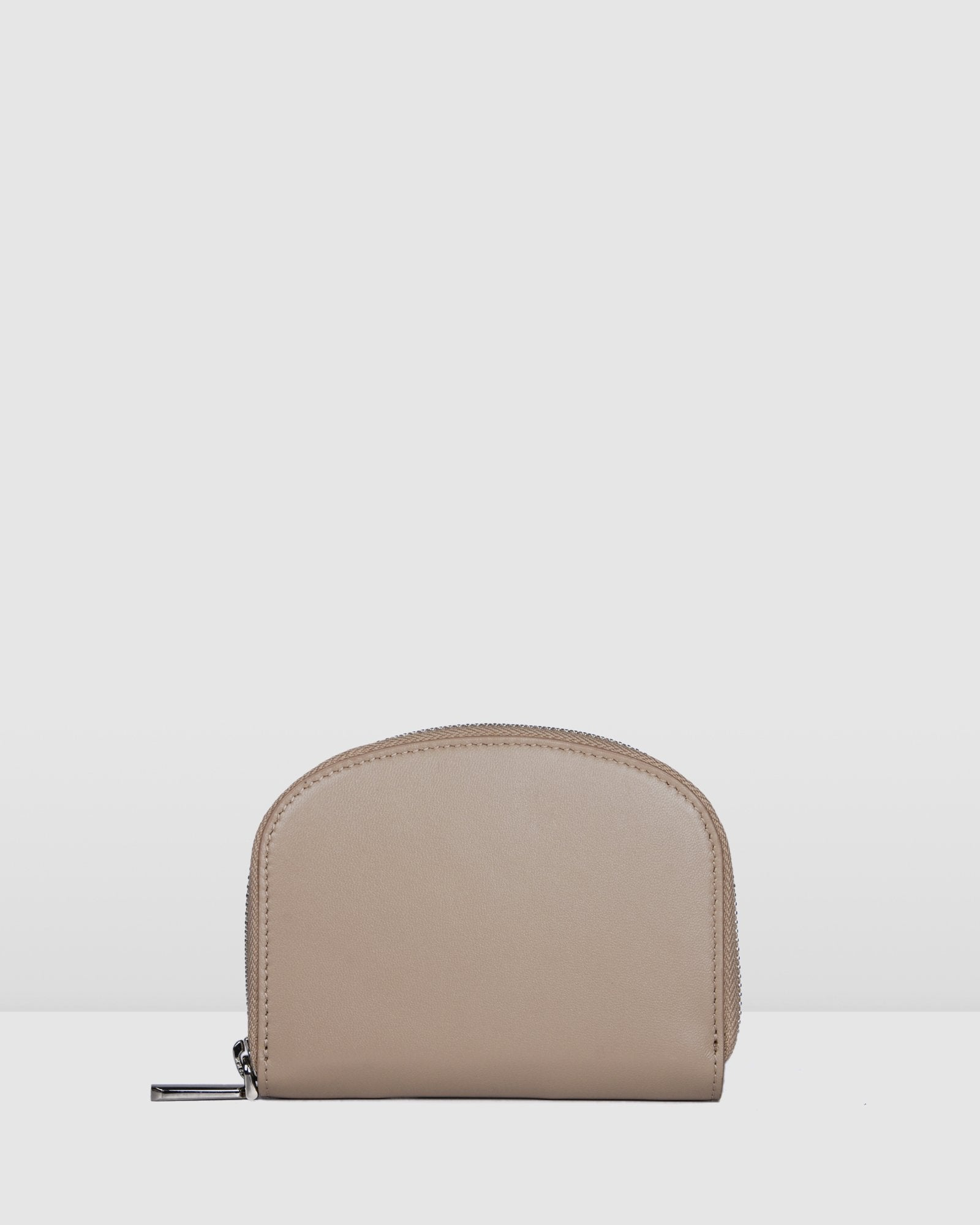 NORA WALLET BEIGE LEATHER