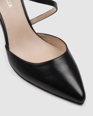 NORWAY HIGH HEELS BLACK LEATHER