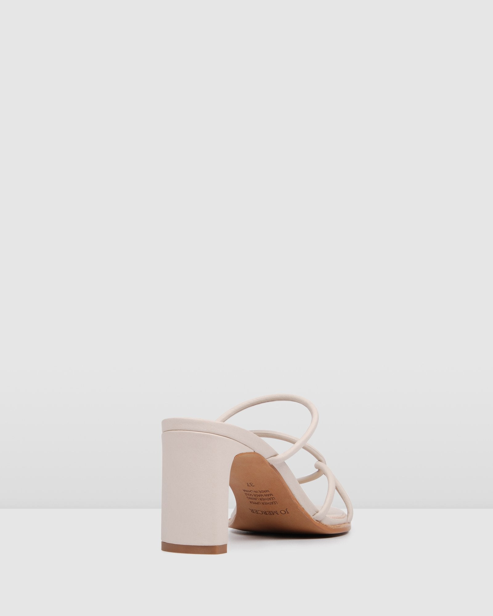 NOVI MID HEEL SANDALS BONE LEATHER