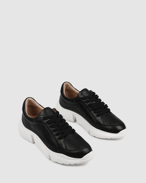 ODYSSEY SNEAKERS BLACK LEATHER