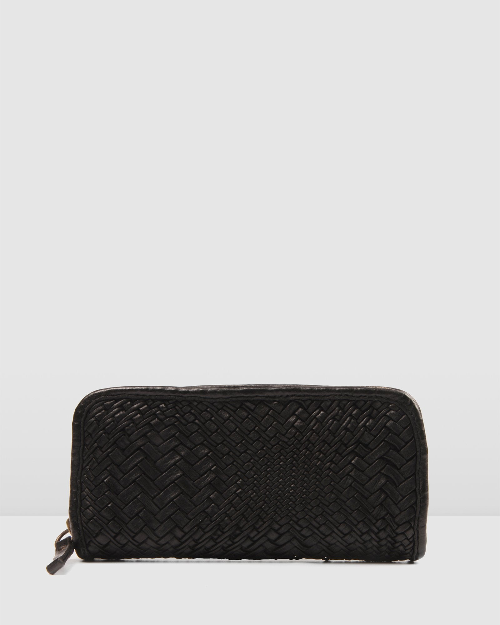 CAMPOMAGGI OPTICAL WALLET BLACK LEATHER