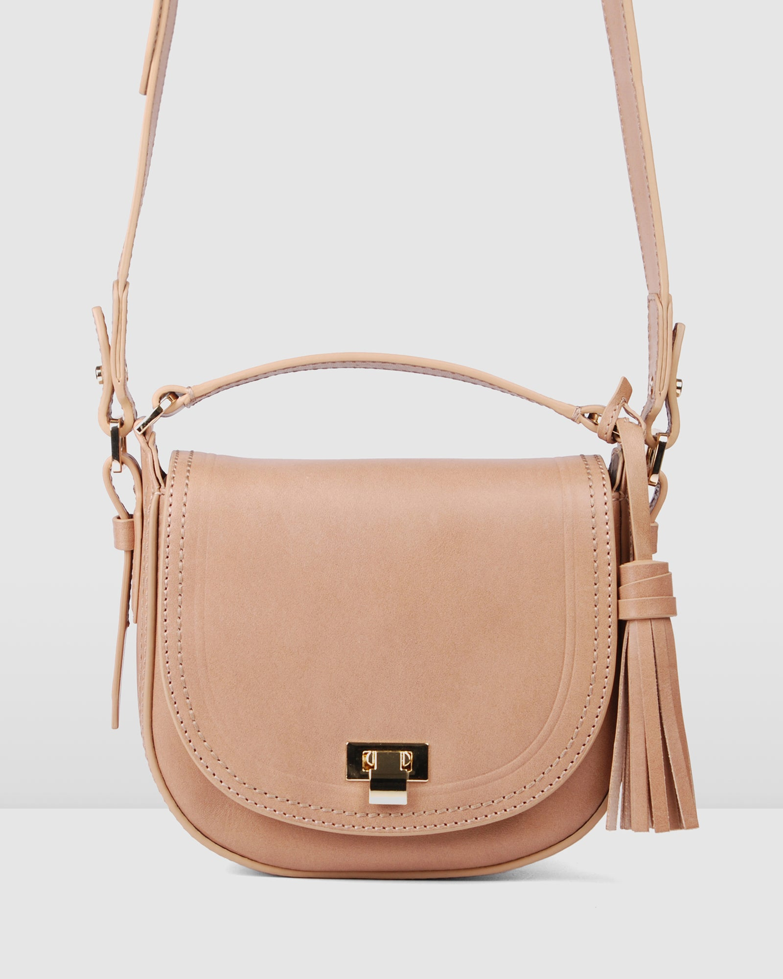 PALERMO CROSS BODY BAG TAN LEATHER