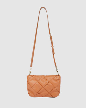 PERSIA CROSS BODY BAG PEACH LEATHER
