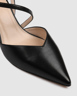 PERU MID HEELS BLACK LEATHER