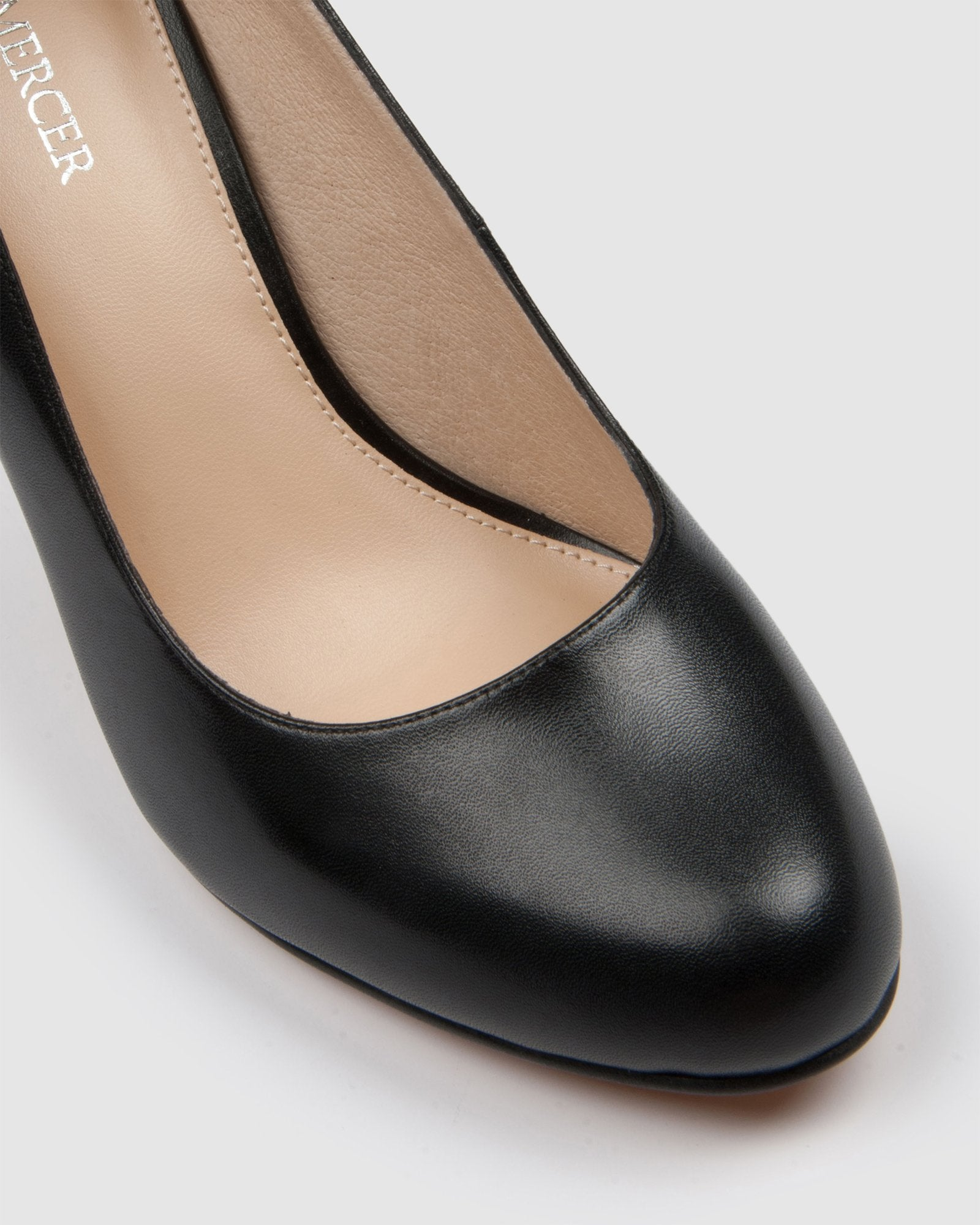 QUIP HIGH HEELS BLACK LEATHER