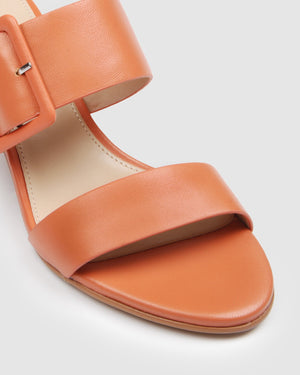 RAIN LOW SLIDES CORAL LEATHER
