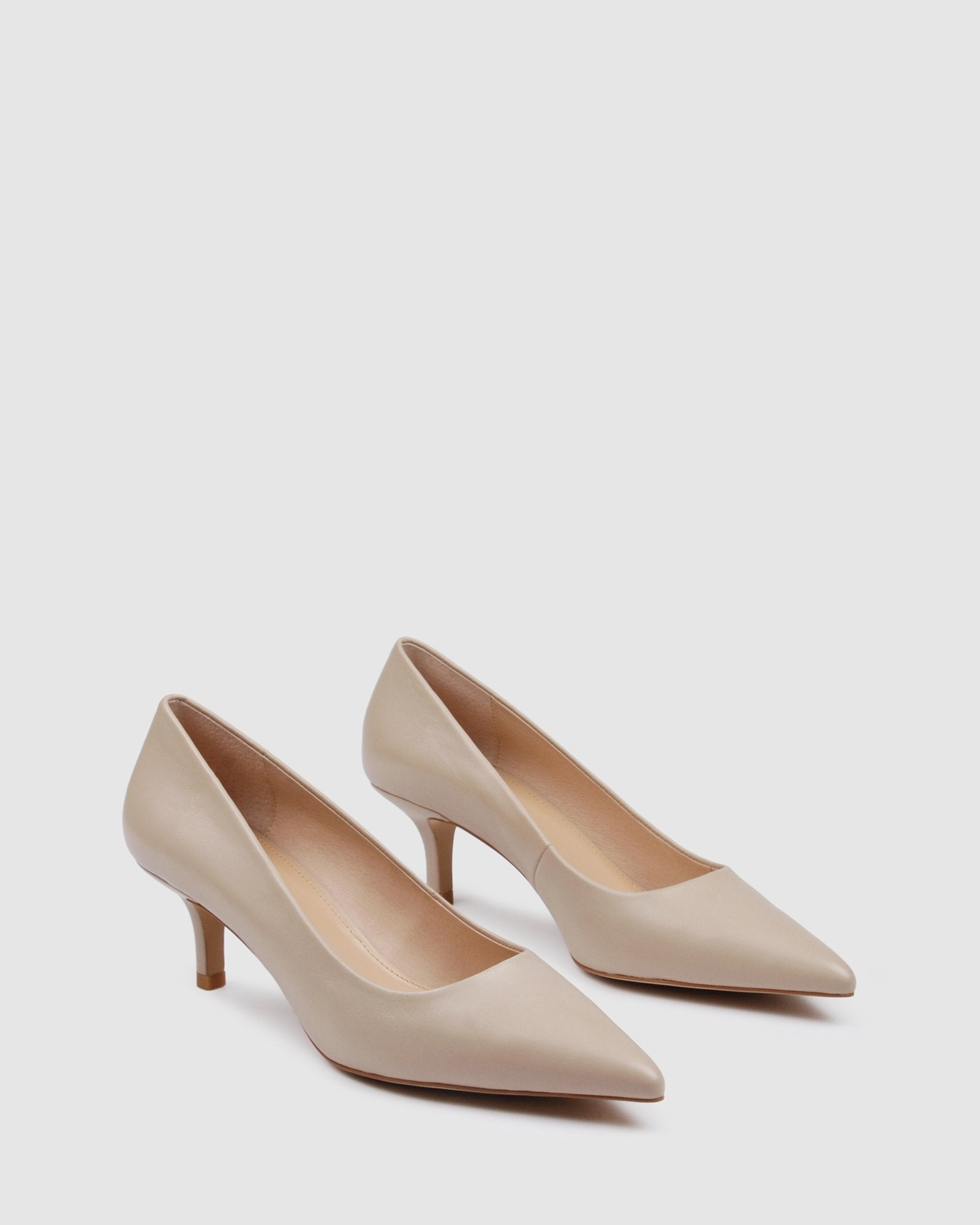 RANI LOW HEELS BEIGE LEATHER