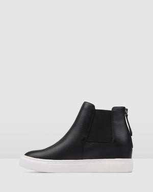 REX SNEAKERS BLACK LEATHER