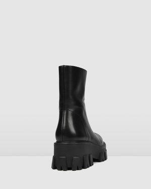 ROCOCCO MID ANKLE BOOTS BLACK LEATHER