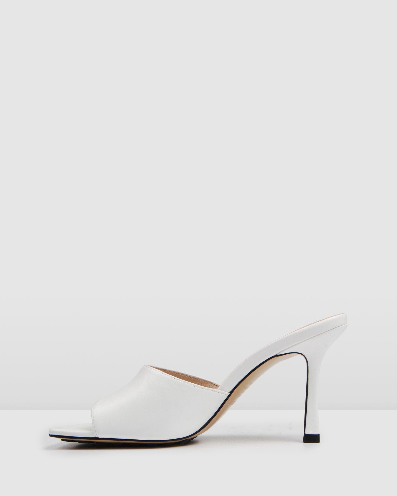 ROUGE HIGH HEEL SANDALS WHITE LEATHER