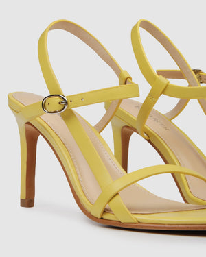 SANITY HIGH SANDALS YELLOW LEATHER
