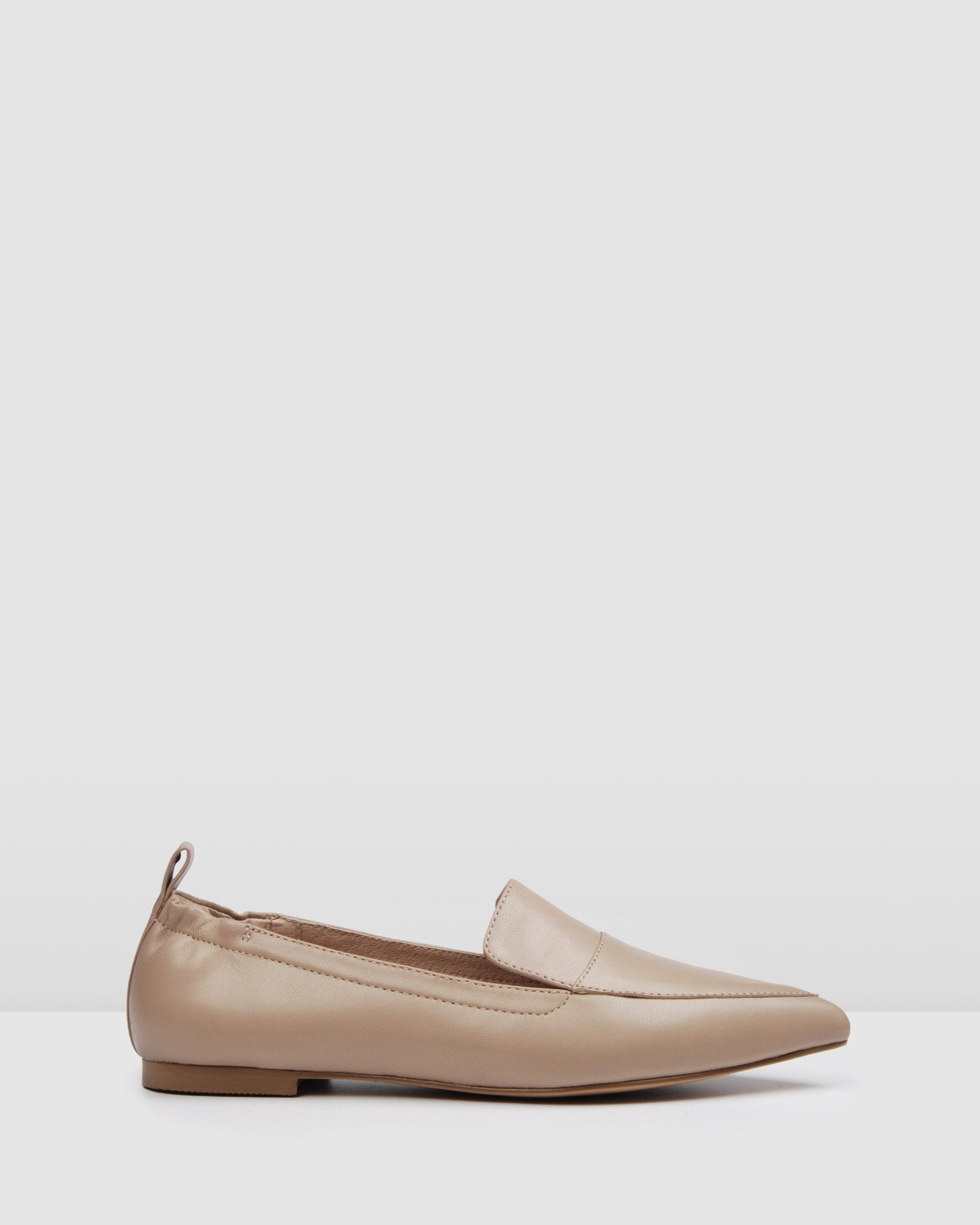 SEETON CASUAL FLATS BEIGE LEATHER
