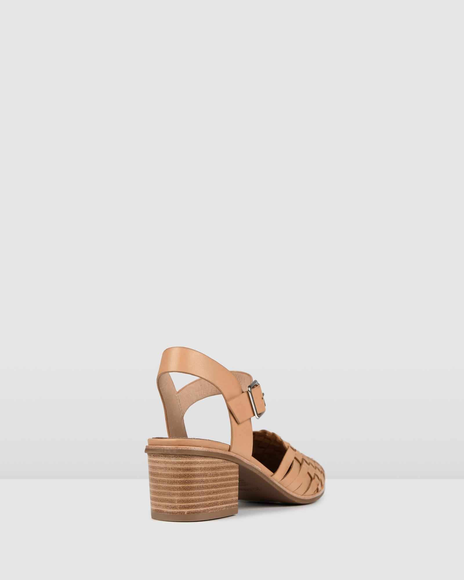 SILVANA LOW HEELS TAN LEATHER