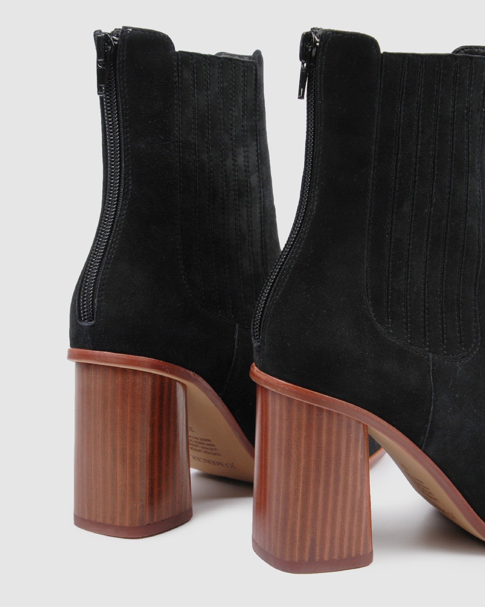 SIMONA HIGH ANKLE BOOTS BLACK SUEDE