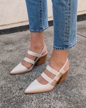 FLAME MID HEELS BONE LEATHER