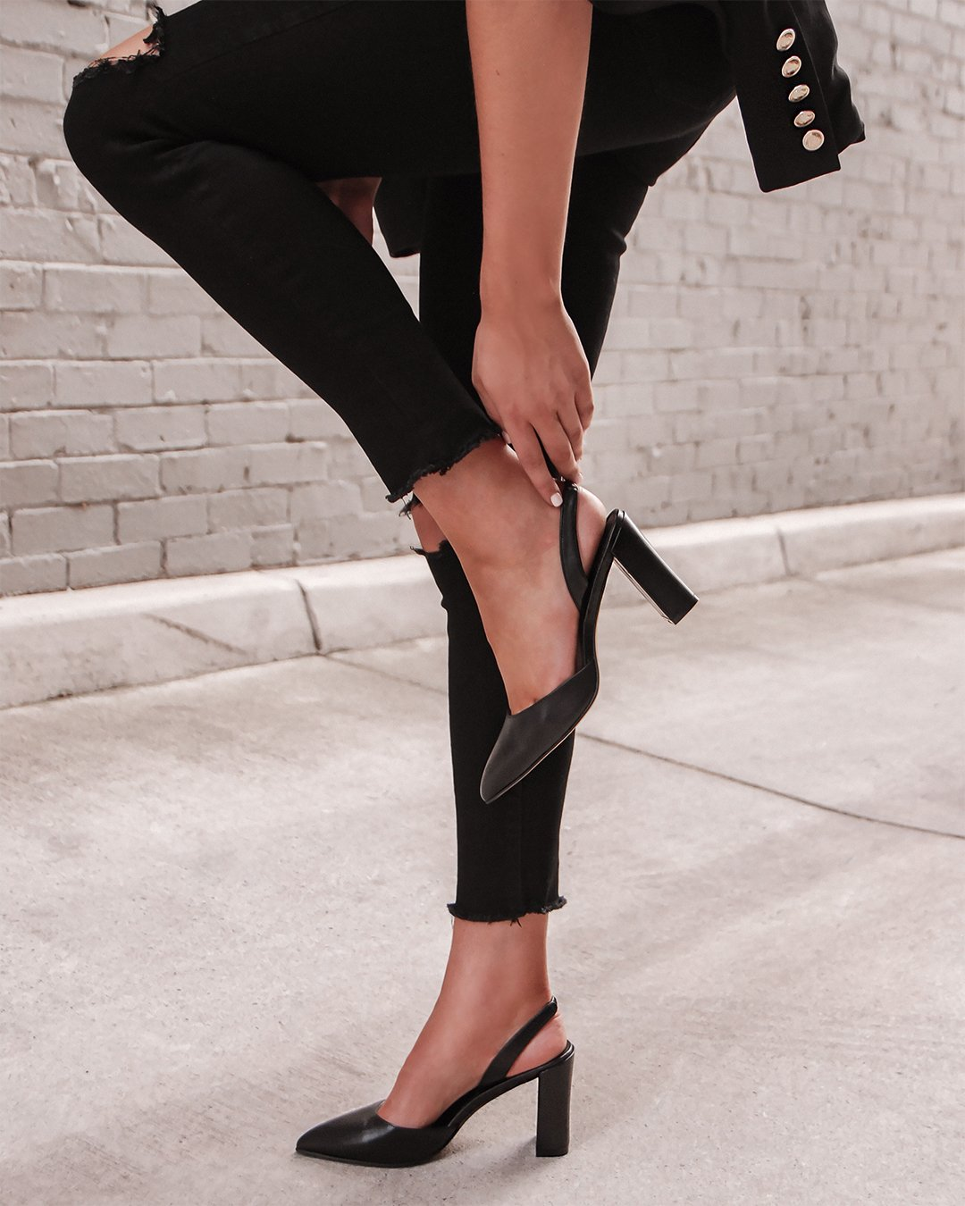 GENEVA HIGH HEELS BLACK LEATHER