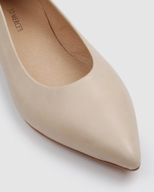 SOMERSET CASUAL FLATS BONE LEATHER