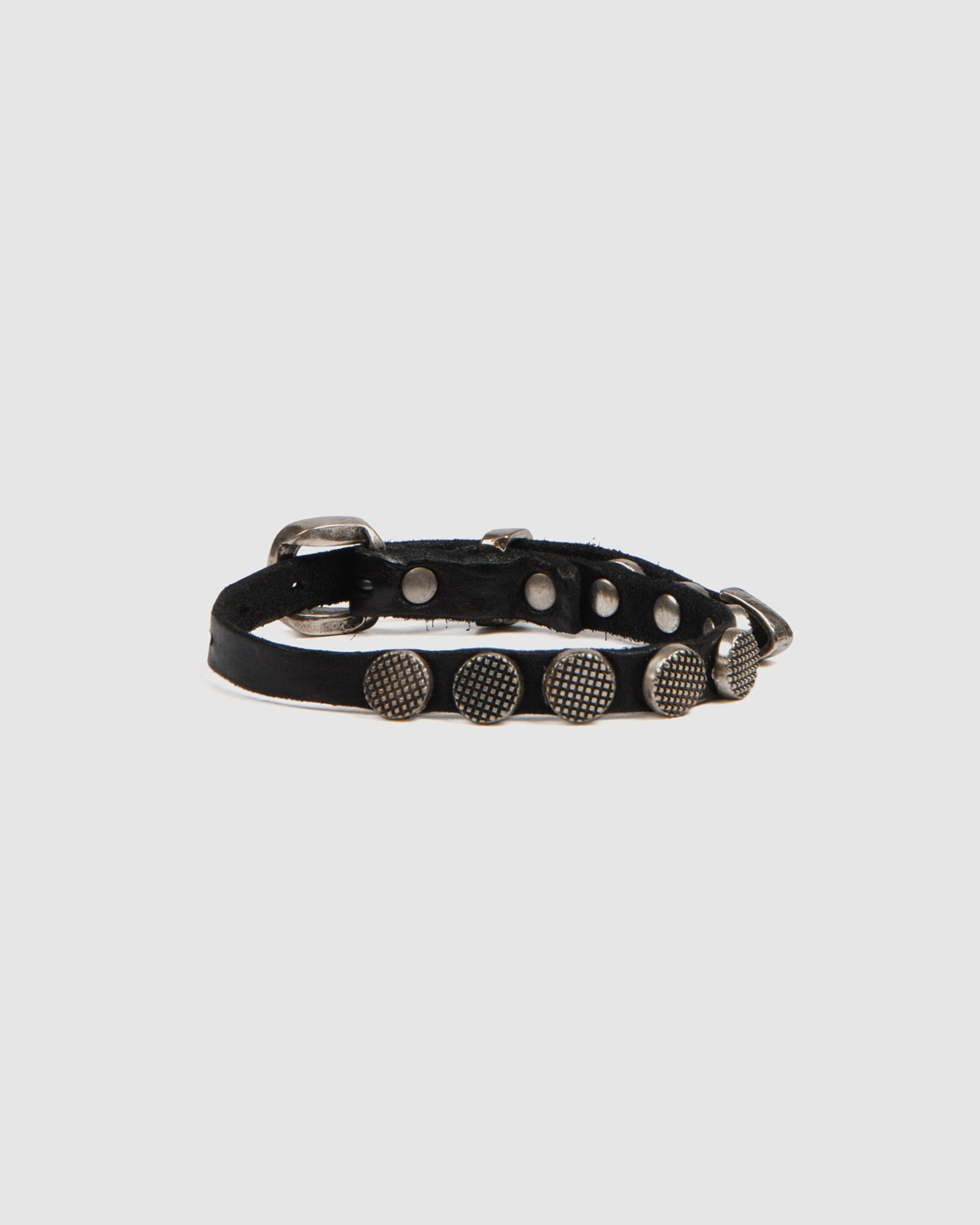 CAMPOMAGGI STANFORD BUCKLE BRACELET BLACK LEATHER