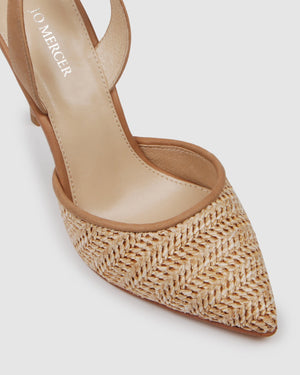 TAIO HIGH HEELS TAN MULTI