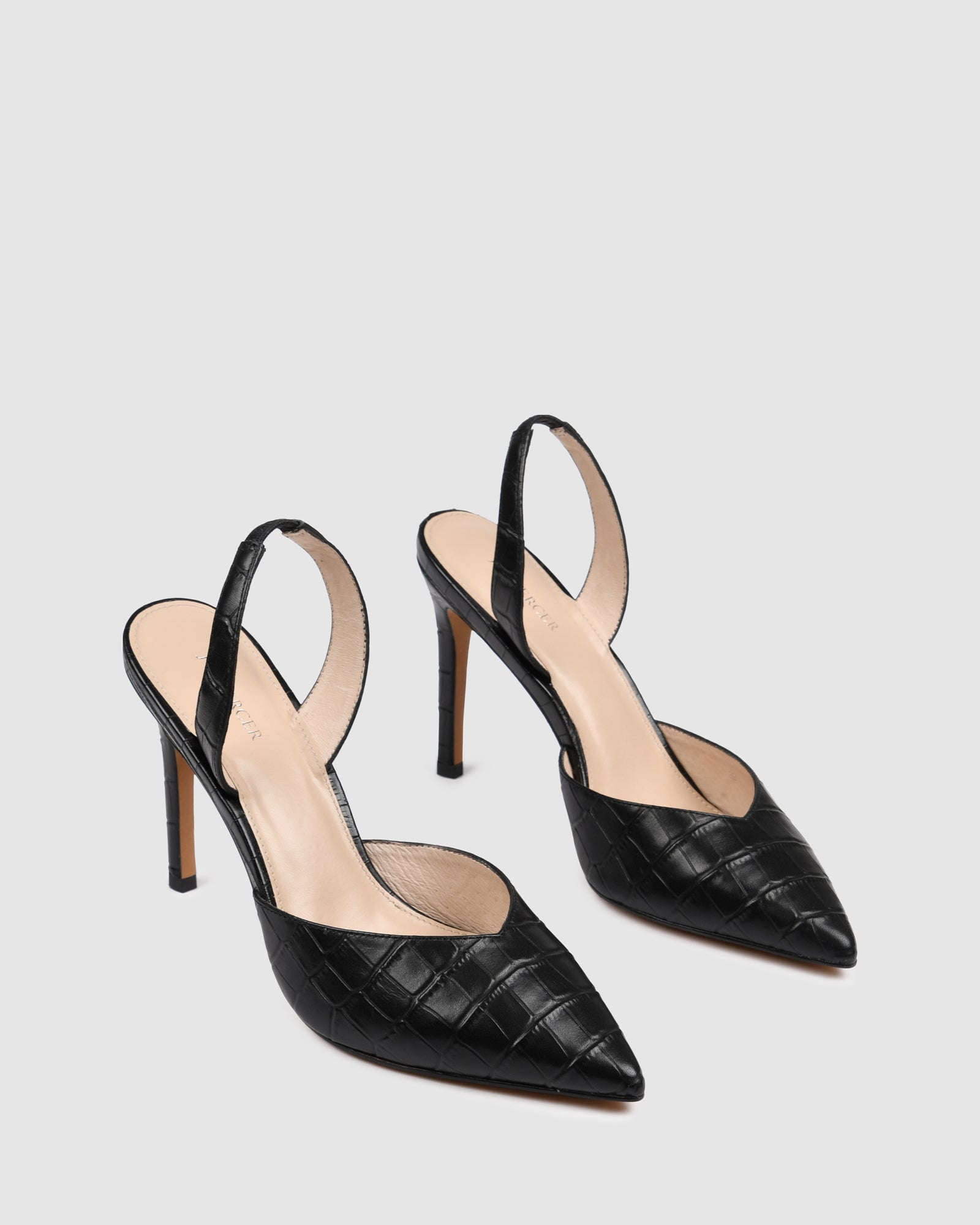 TALULAH HIGH HEELS BLACK CROC