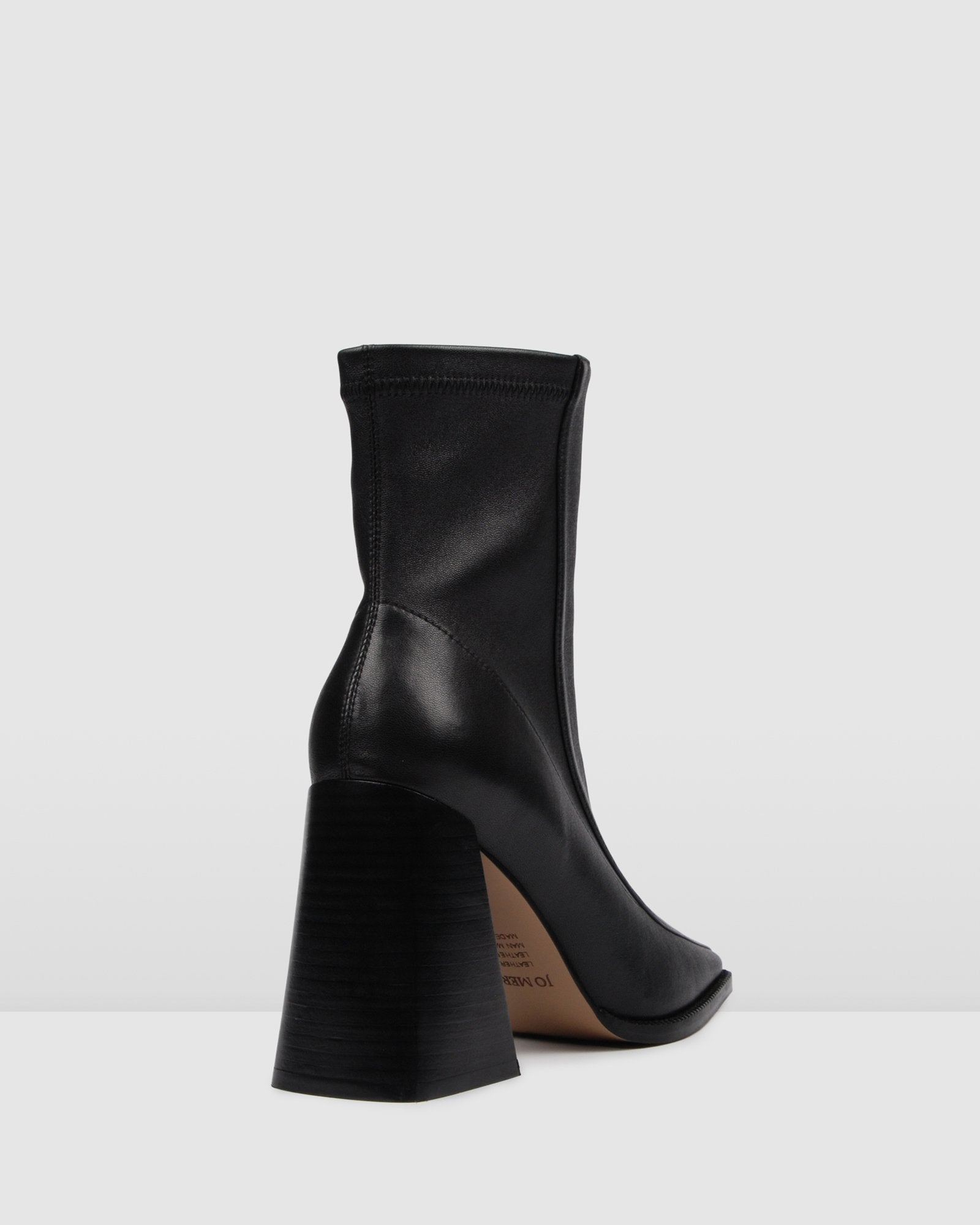 THRILLER HIGH ANKLE BOOTS BLACK LEATHER