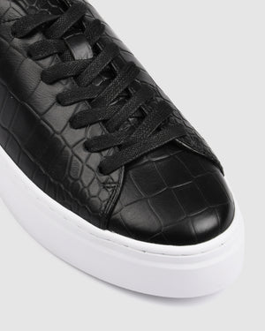 TORA SNEAKERS BLACK CROC