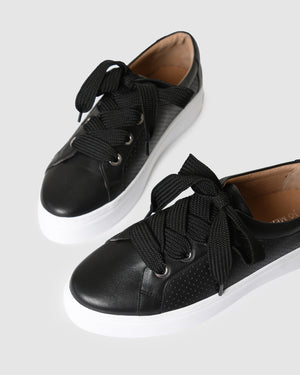TREY SNEAKERS BLACK LEATHER