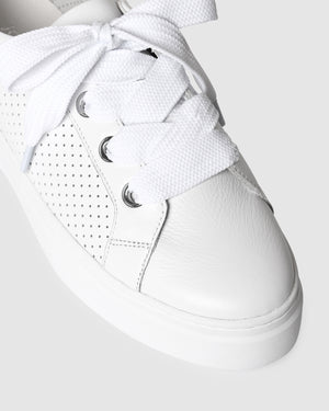 TREY SNEAKERS WHITE LEATHER