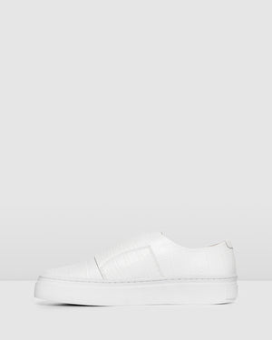 LIMITED EDITION TULLIE SNEAKERS WHITE CROC