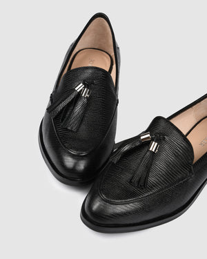 WESTBROOK LOAFERS BLACK EMBOSS