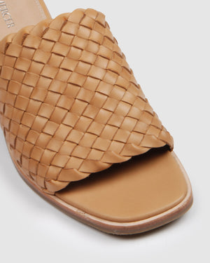 WHALER MID SANDALS TAN LEATHER