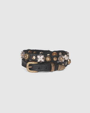 CAMPOMAGGI WILLOW BRACELET BLACK LEATHER