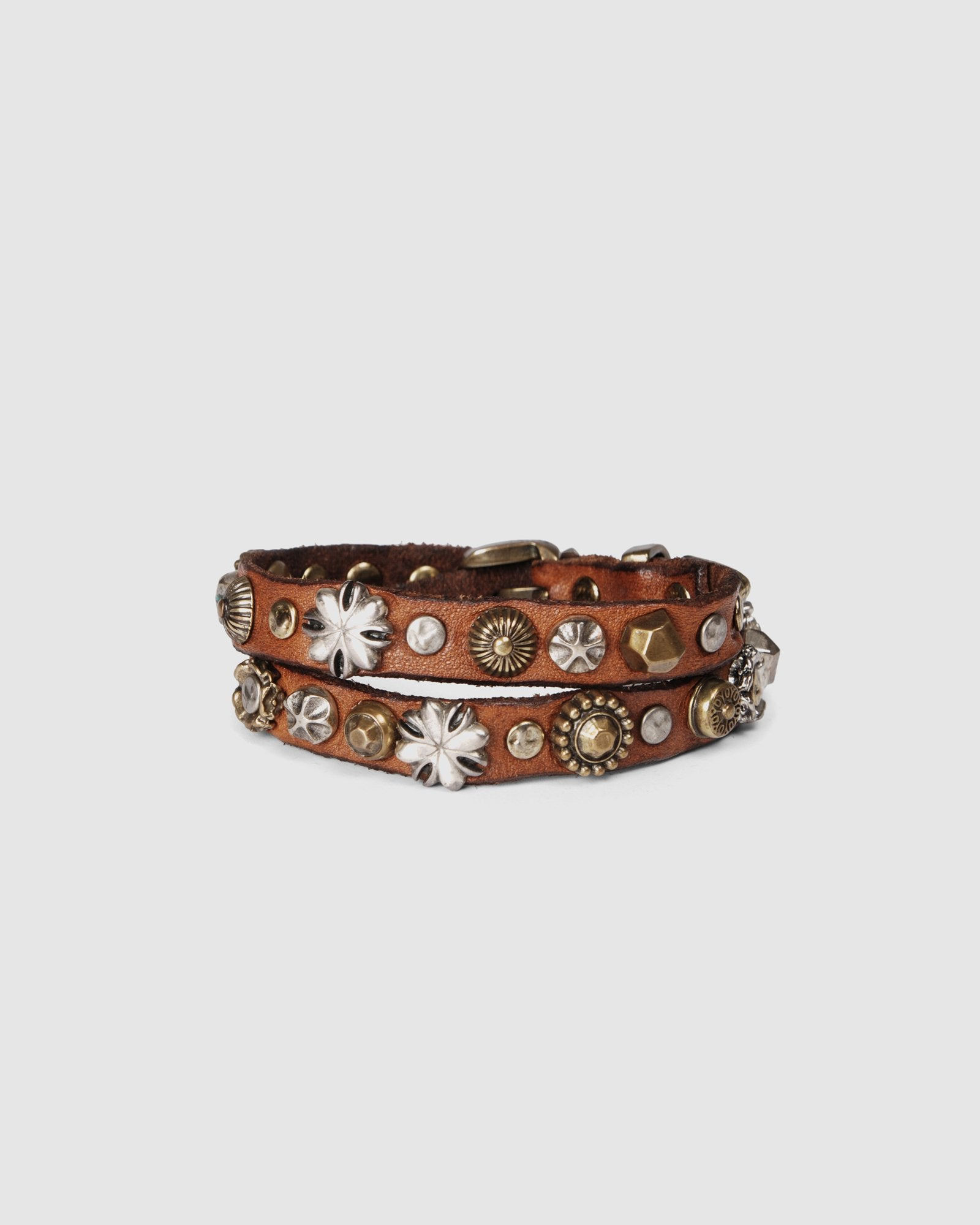 CAMPOMAGGI WILLOW BRACELET COGNAC LEATHER