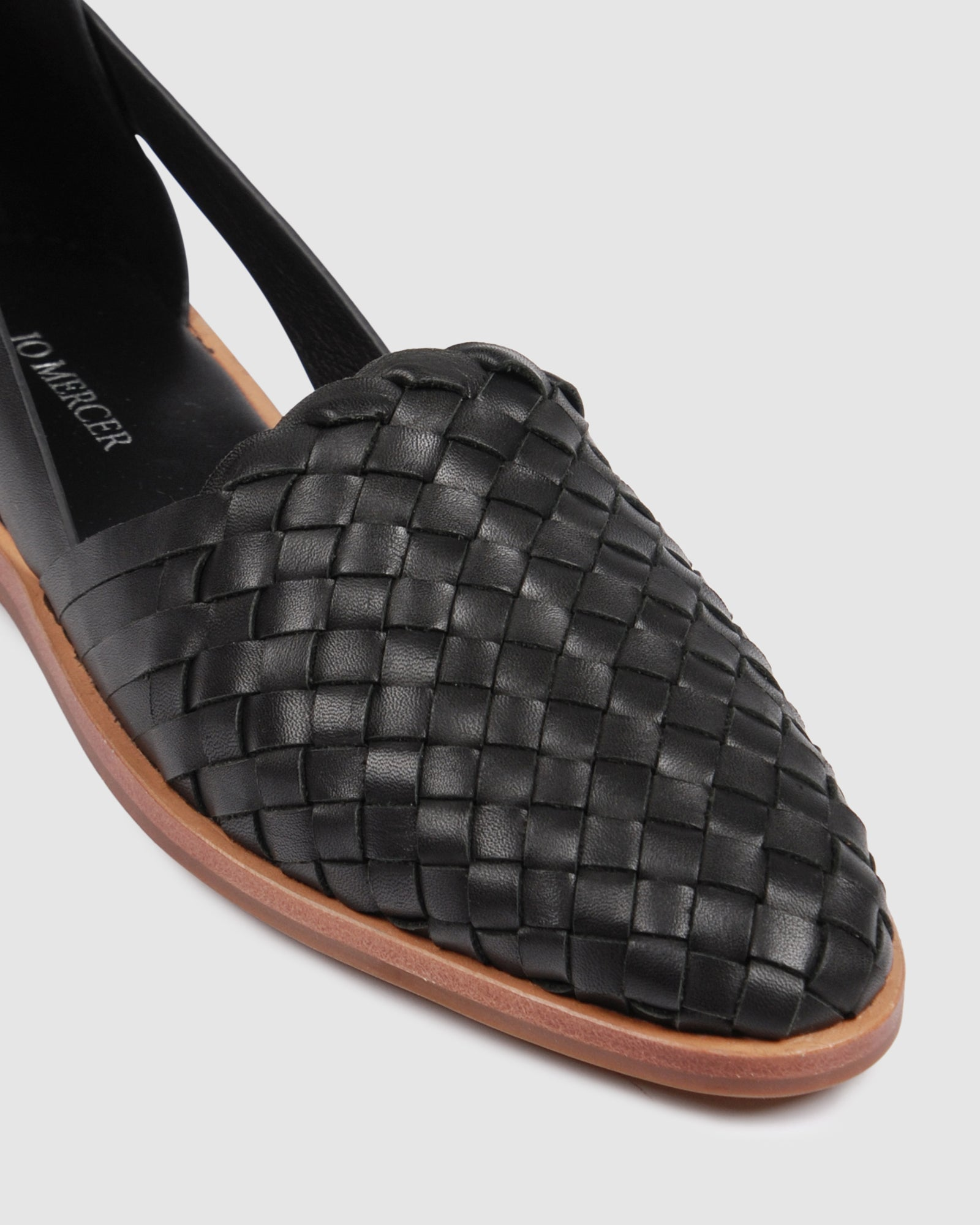 WISDOM CASUAL FLATS BLACK LEATHER