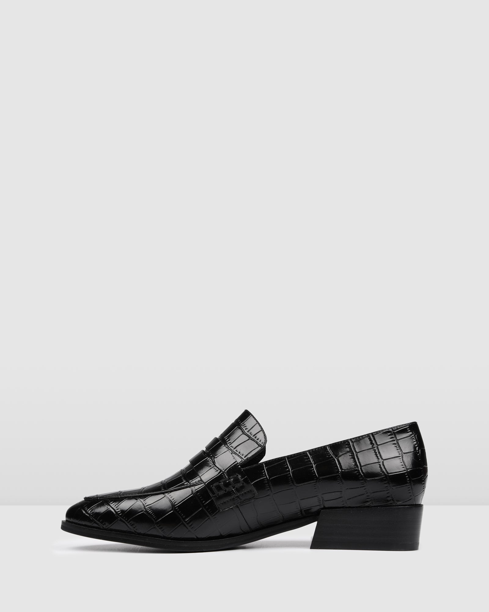 XENOS LOAFERS BLACK CROC