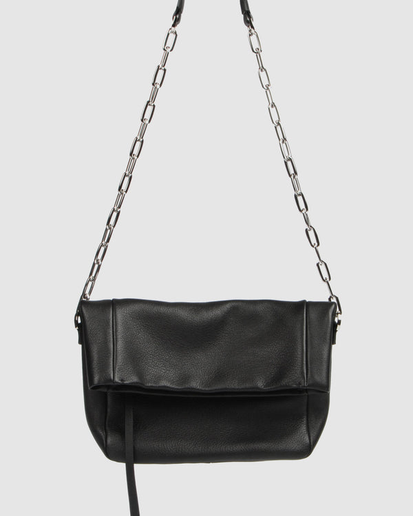 ZADIE SHOULDER BAG BLACK LEATHER