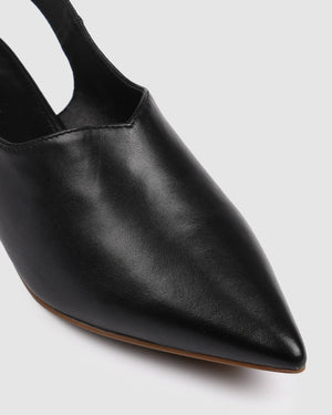 ZIBA DRESS FLATS BLACK LEATHER