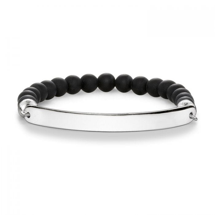 THOMAS SABO LOVE BRIDGE MATTE OBSIDIAN BRACELET