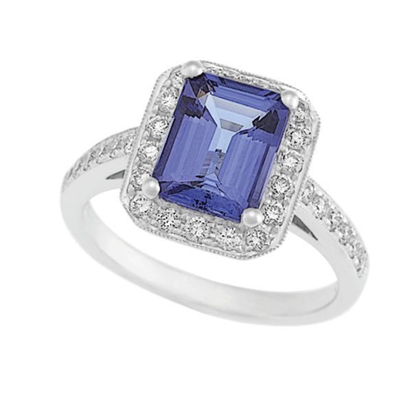 18ct Gold Emerald Tanzanite Ring